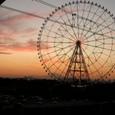 夕日、富士、観覧車
