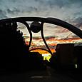 未明の豊島公園のモニュメント「永遠の輝き」