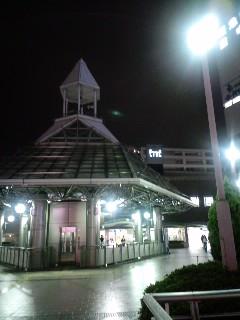 ワールドカップ観戦前、阪急豊中駅で